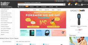 Главная страница интернет-магазина GearBest