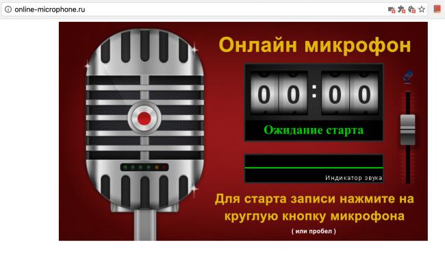 Рис. 6 Online Microphone – запись