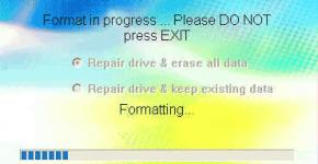 Рис 2. Главное окно программы восстановления