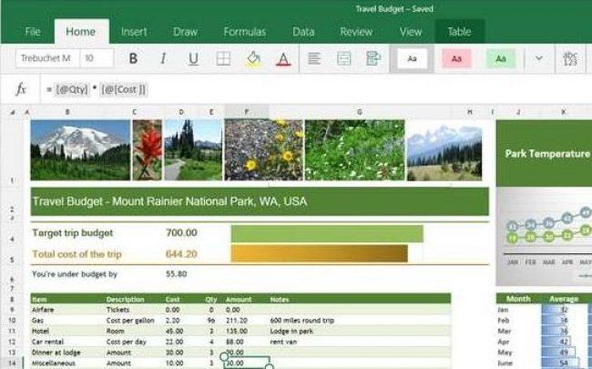 Рис.10 – главная страница Excel Mobile