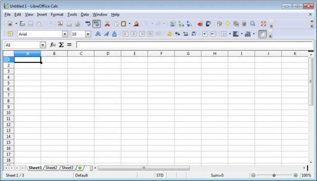 Рис.2 – электронная таблица в LibreOffice