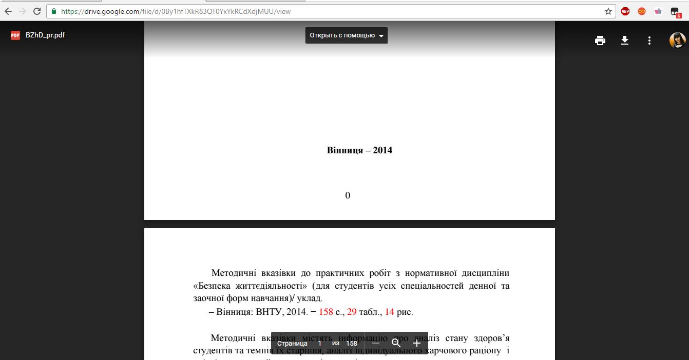 Рис. 6. Просмотр документа в Google Docs