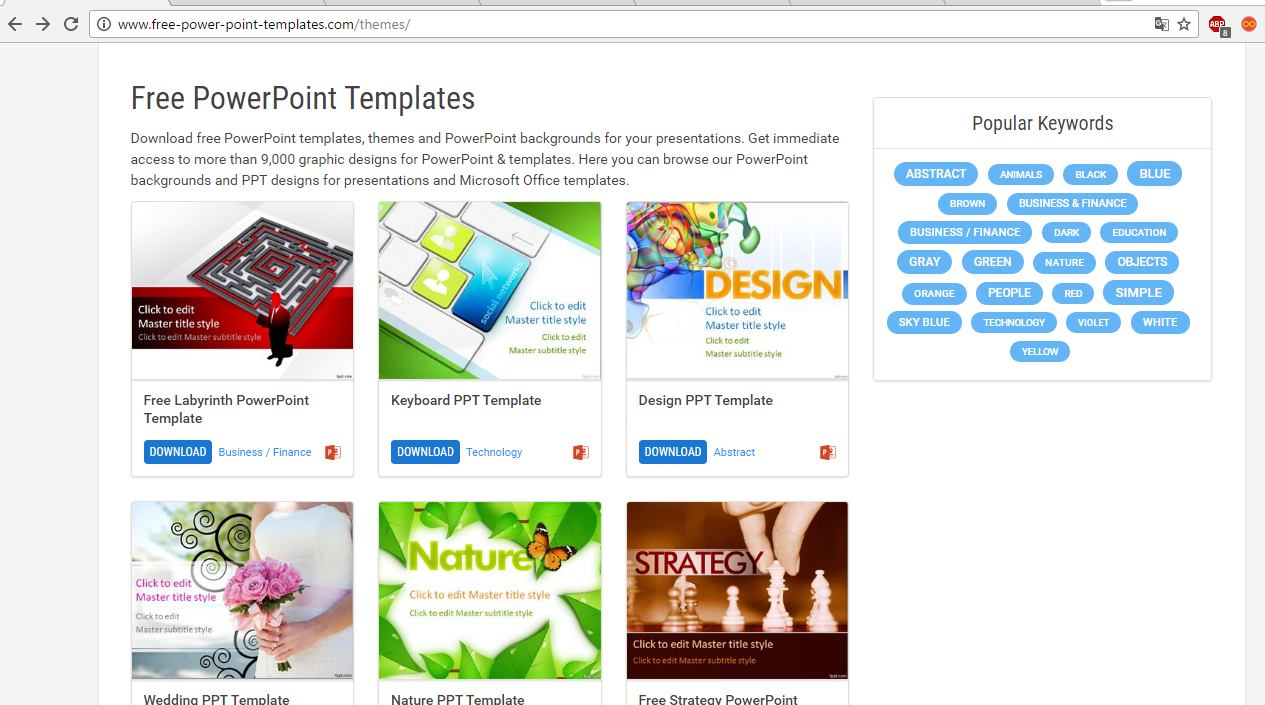 53950 Free PowerPoint templates from Presentation Magazine