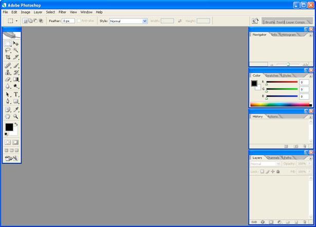 Рис. 7 – главное окно Фотошоп CS2