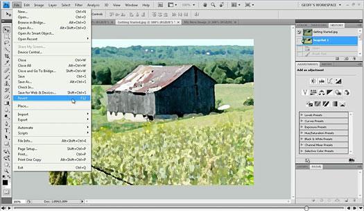 Рис. 7 – главное окно программы Фотошоп CS4