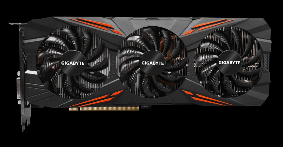 Рис.10. Дорогой, но мощный лидер рынка – Gigabyte GeForce GTX 1080