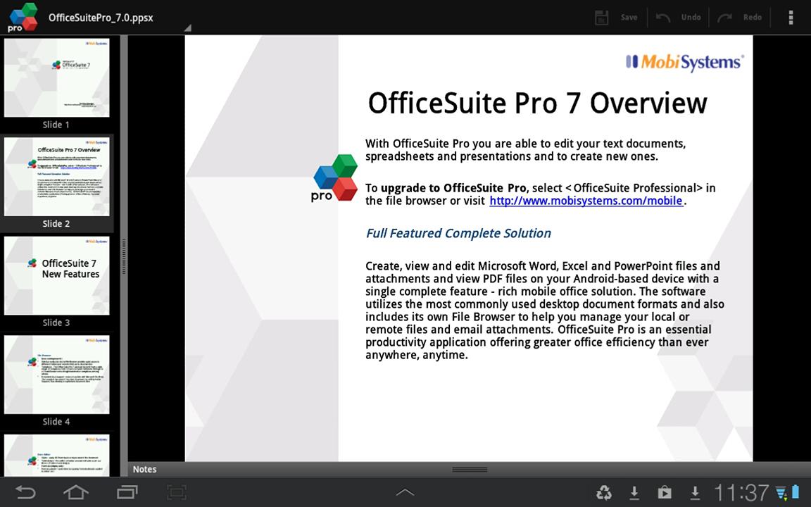 Рис.11. Редактирование pdf документа в OfficeSuite Pro