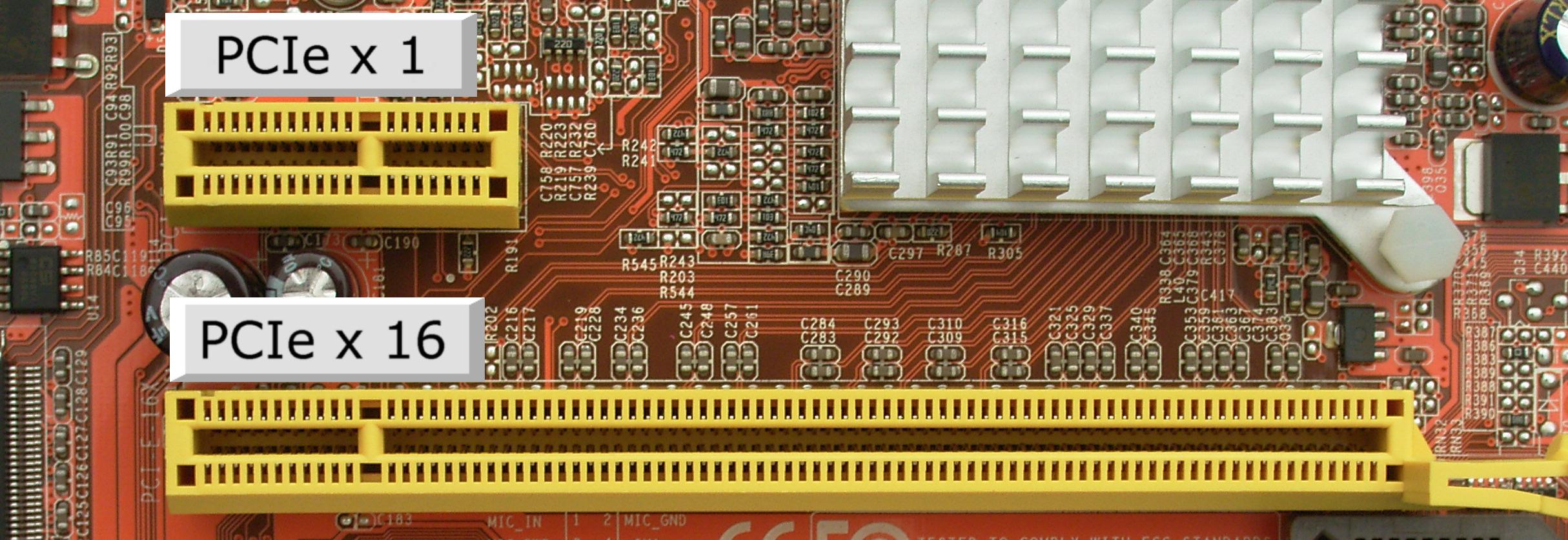 Рис.3. Слот PCI-Express