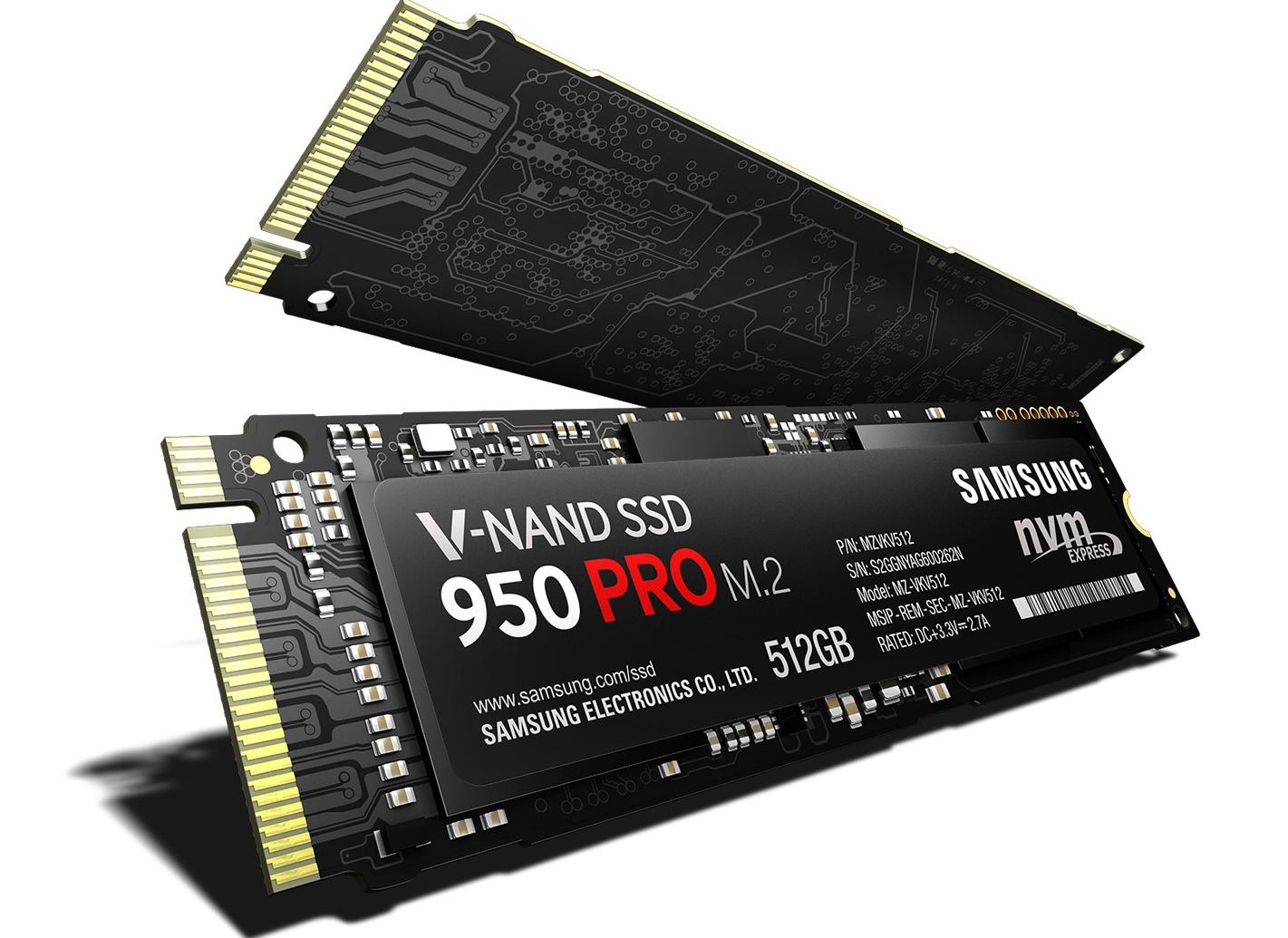 Рис.5. Твёрдотельный накопитель Samsung 950 Pro – один из самых компактных и быстрых