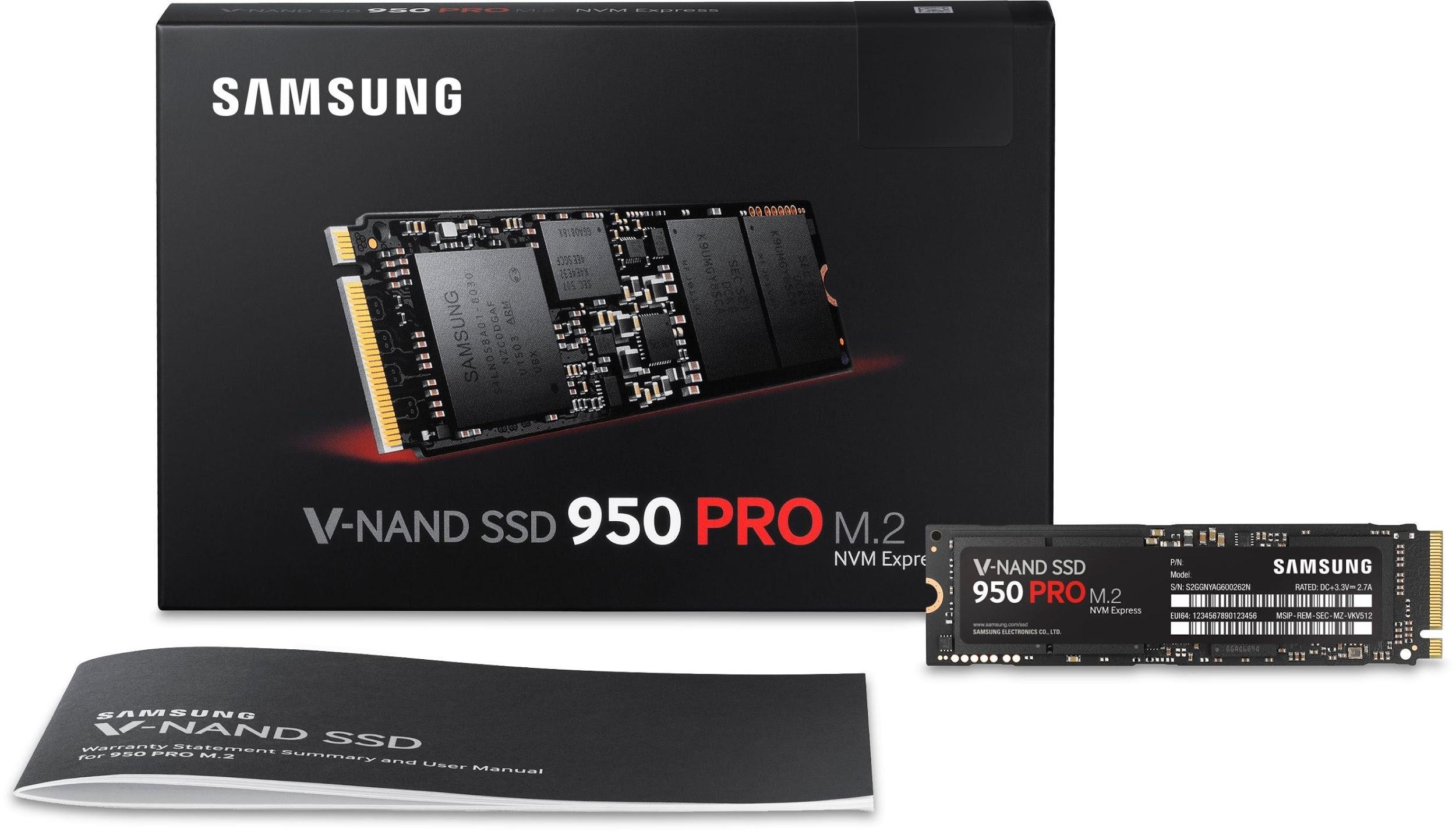 Рис.8. Маленький и быстрый Samsung 950 Pro PCIe SSD