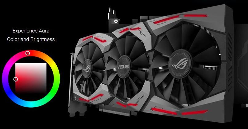 Рис.8. ROG Strix GeForce GTX 1060 – потрясающее охлаждение и оригинальная подсветка