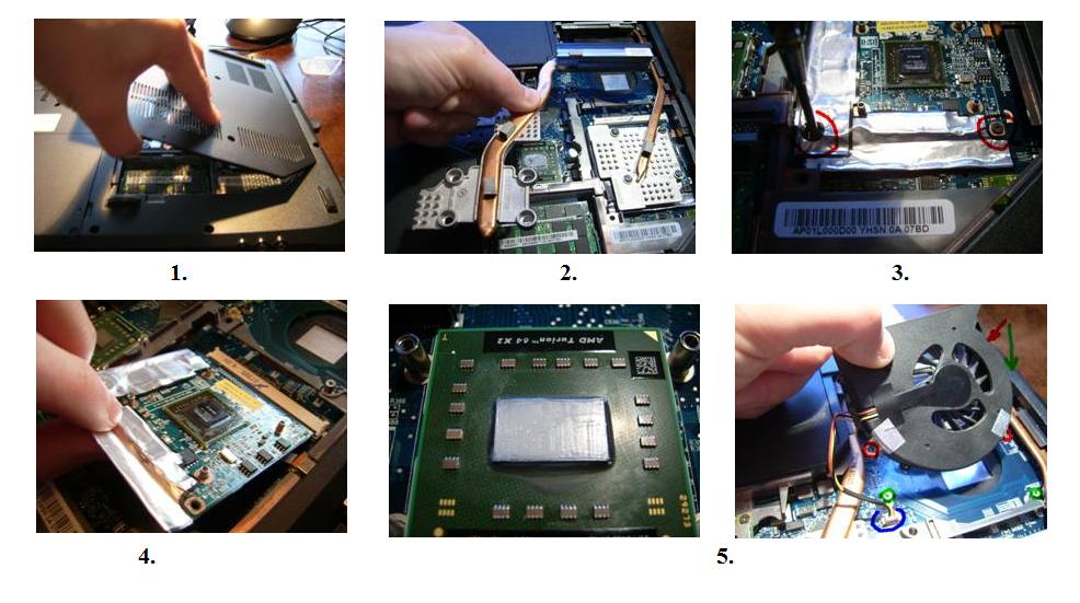 Процесс замены видеокарты в ноутбуке
