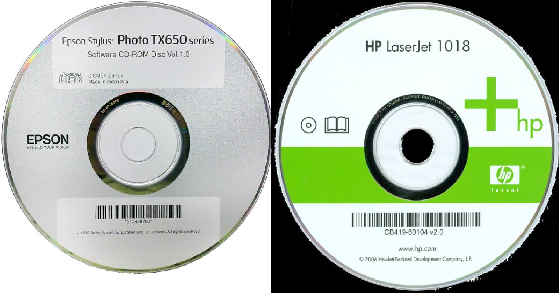 Рис.8. Диски с набором управляющих программ для принтера Epson и HP.
