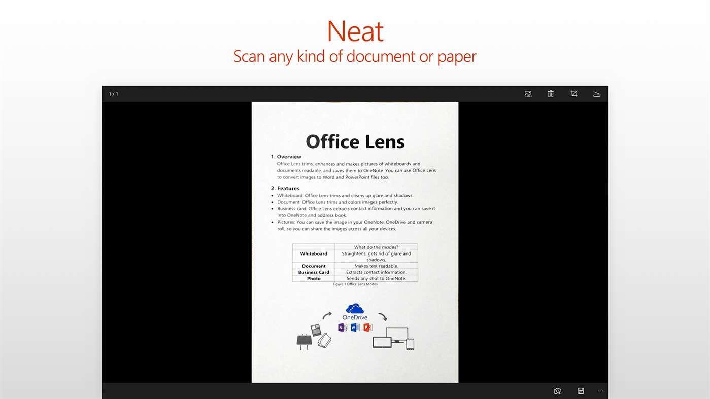 Рис. 16 - просмотр файлов .doc в Office Lens