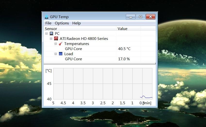 Рис. 2. Приложение GPU Temp