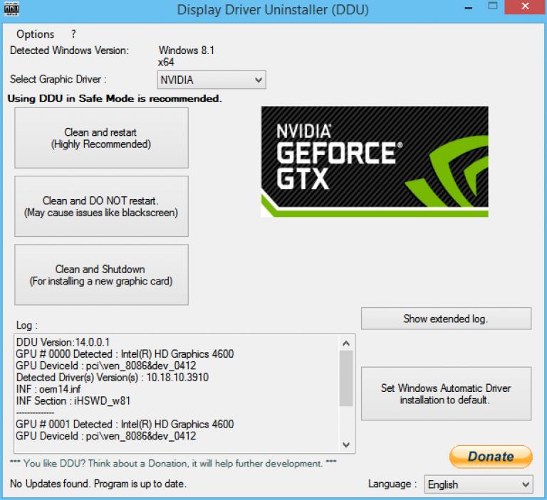 Используемый Дисплей Не подключен к NVIDIA? Решение (2017)