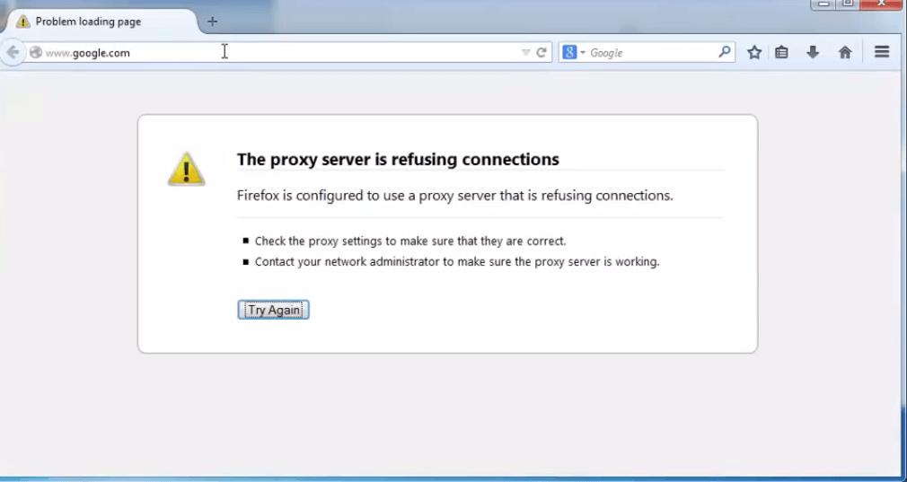 Прокси-Сервер Отказывается Принимать Соединения