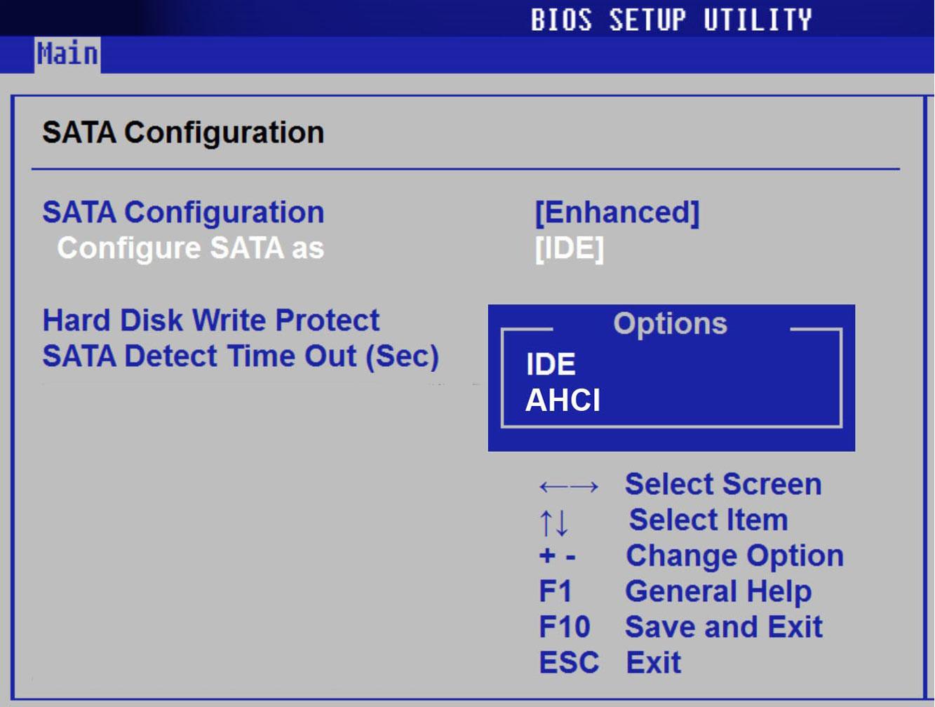 Выбранный диск имеет стиль разделов GPT