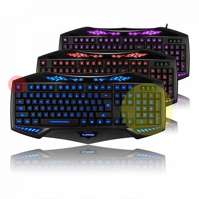 Эргономичные игровые клавиатуры с подсветкой