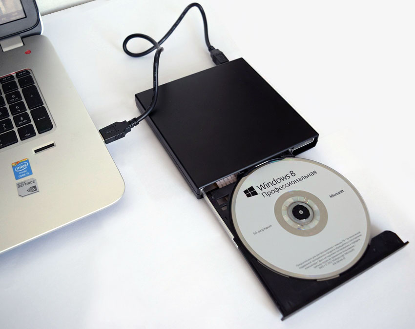 Внешний дисковод для ноутбука