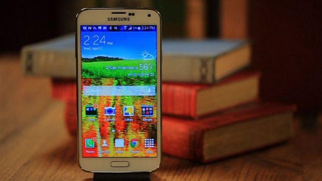 Вид Samsung Galaxy S5