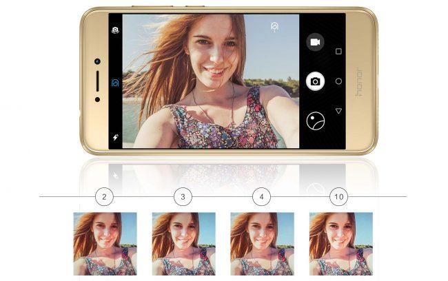 Распознавание лиц в Huawei Honor 8 Lite