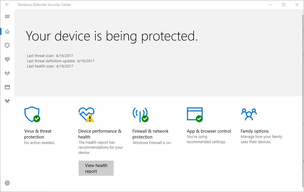 """""""Центр обеспечения безопасности Windows"""""""
