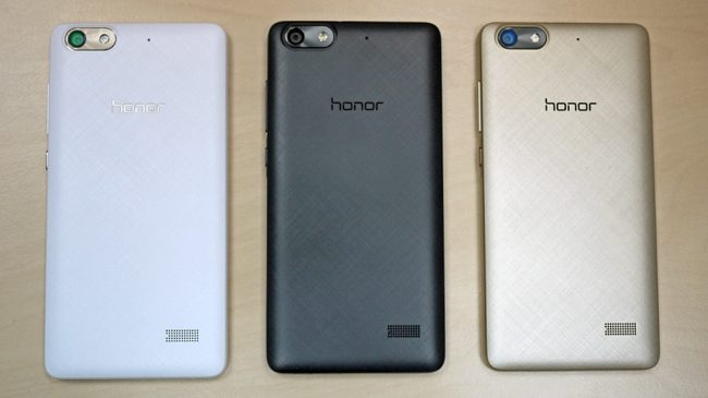 Три вида расцветки Honor 4C: белая, черная и золотистая