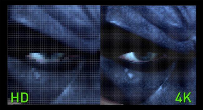 Сравнение HD и 4K