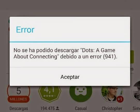 Error 941