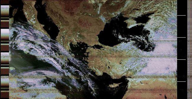 Снимки спутников NOAA
