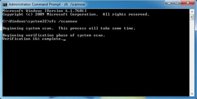 Запускаем сканирование системы на Windows