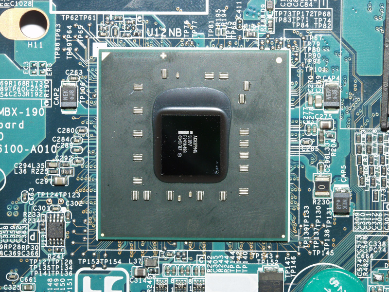 Слегка обуглившийся процессор