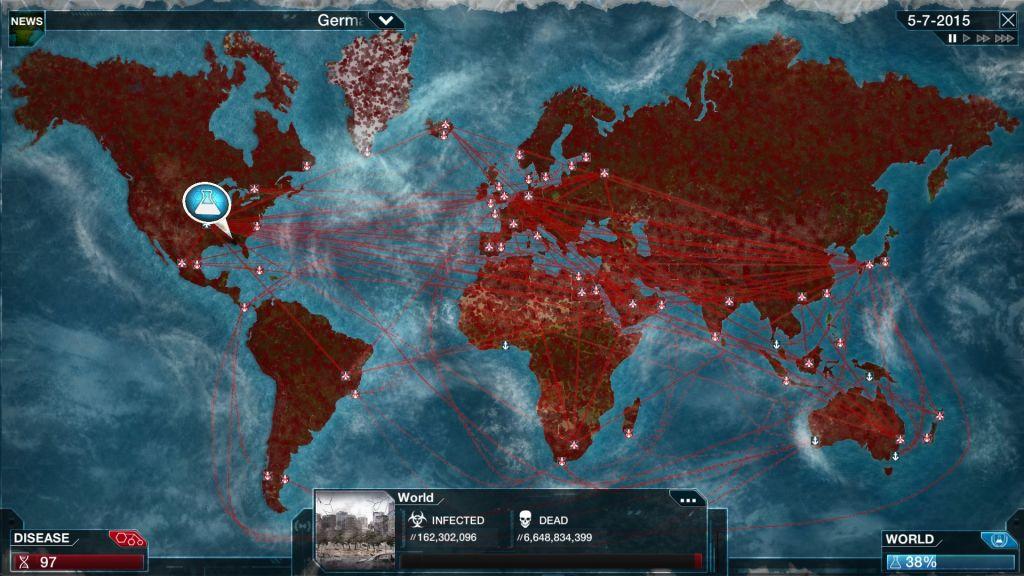 Финальная стадия истребления человечества в Plague Inc.