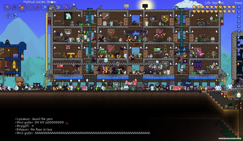 Terraria карта со всеми вещами