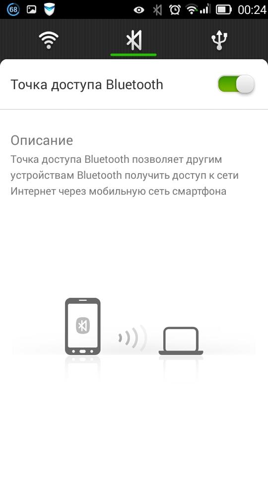 Создание точки доступа Bluetooth