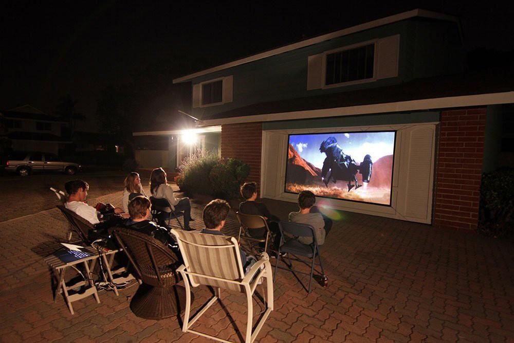 Использование проектора для домашнего просмотра видео