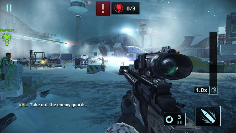 Враг на линии огня в Sniper Fury