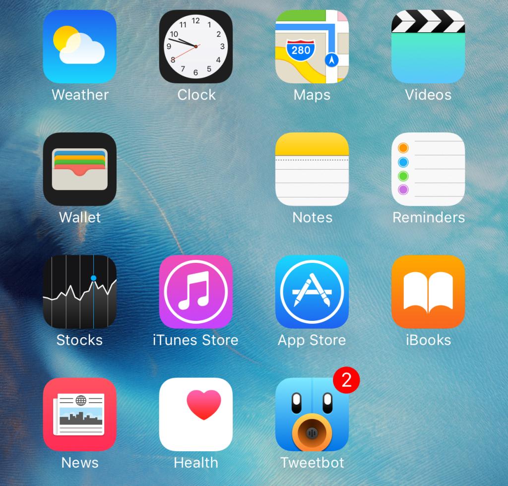 Отображение скрытой папки на iPhone