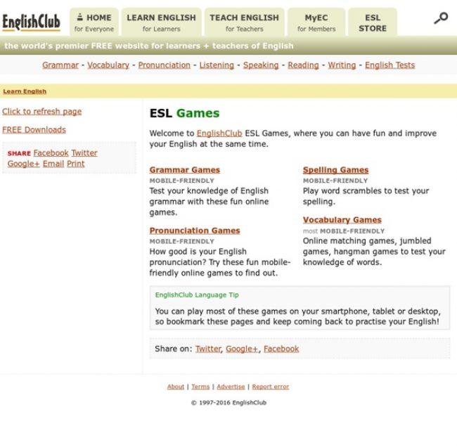EnglishClub ESL Games
