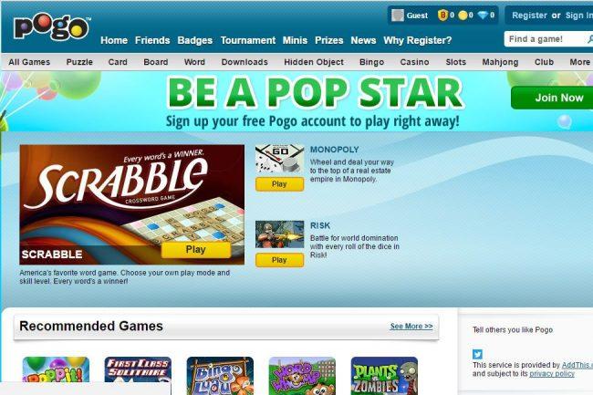 Word Games на Pogo.com