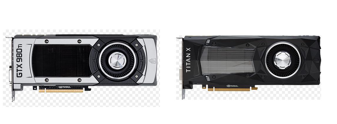 Сравнение дизайна с Titan X
