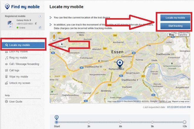 Главная страница сервиса для Samsung