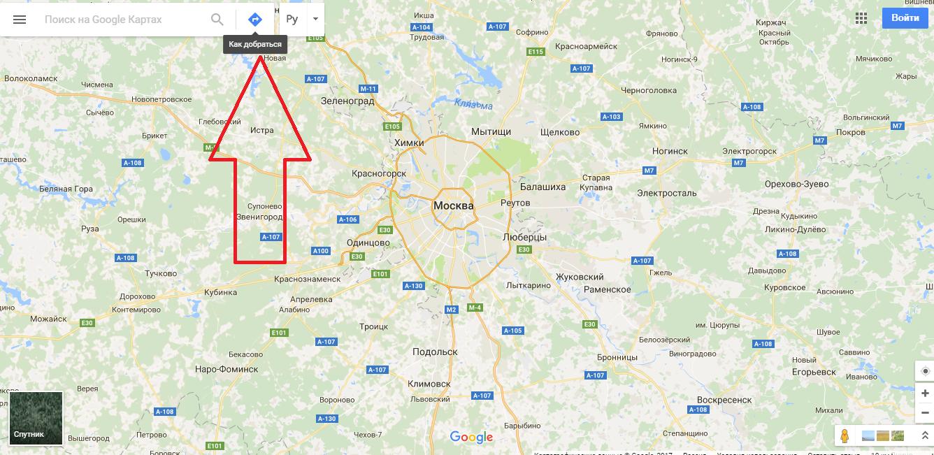 Рис.8 – главная страница Google Maps