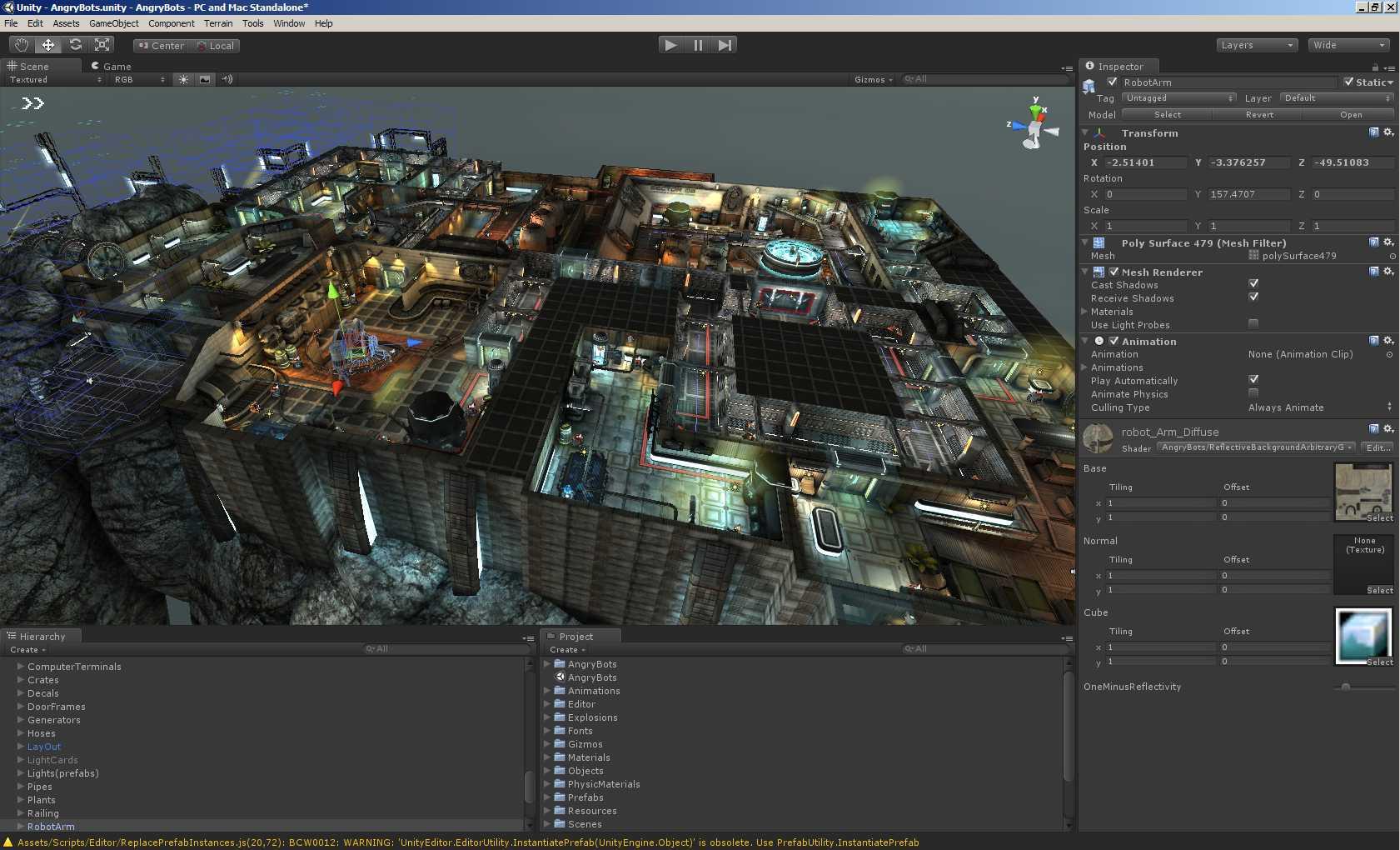 Рис. 2. Проект на Unity, который можно будет запустить в браузере