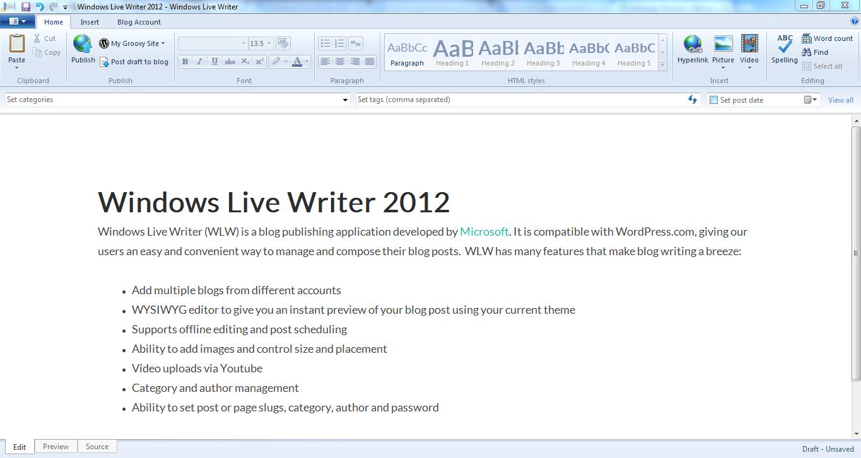 Рис. 5. Microsoft Writer