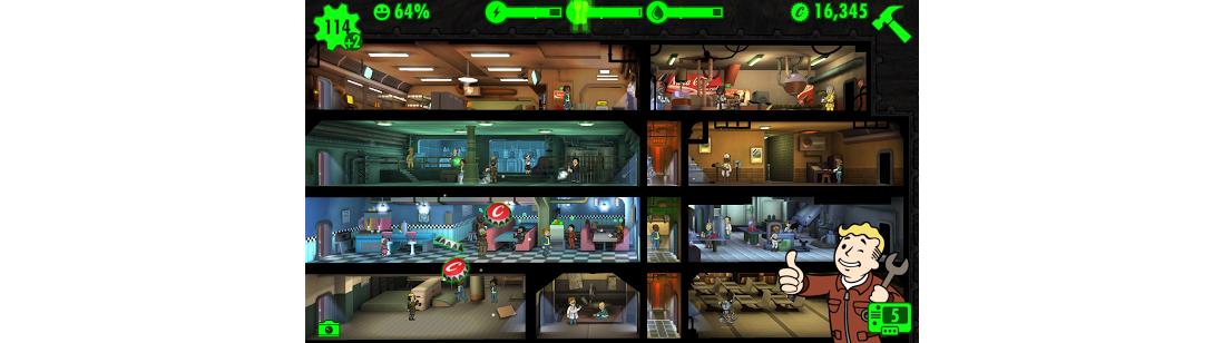 Рис. 6. Fallout Shelter сделана на Unity