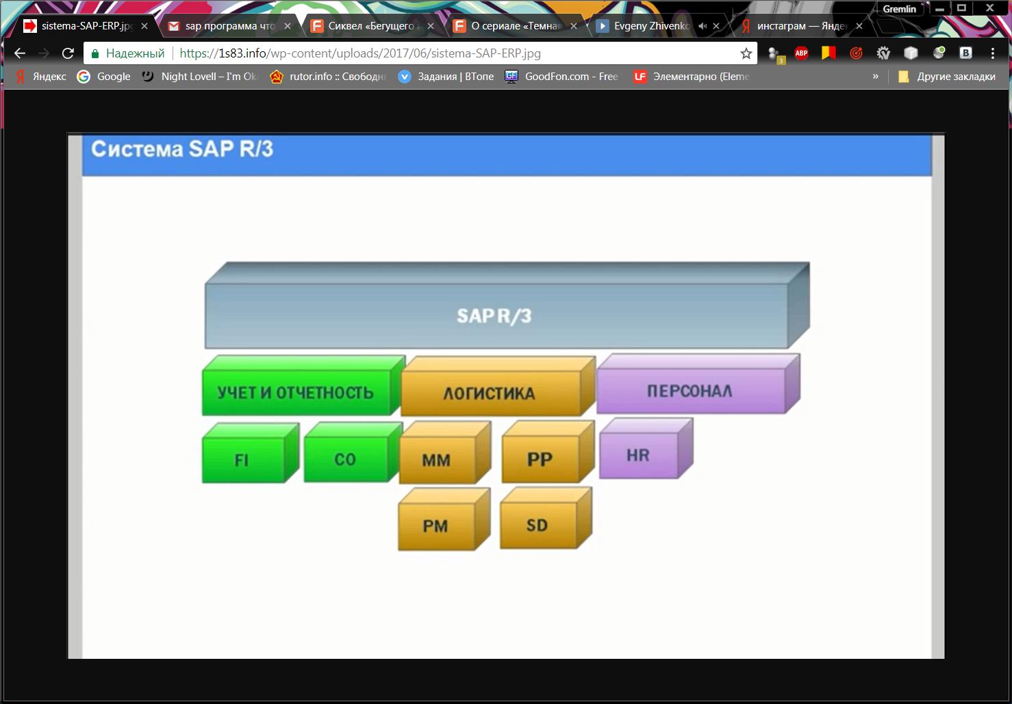 Рис. 6 – Схема SAP R/3