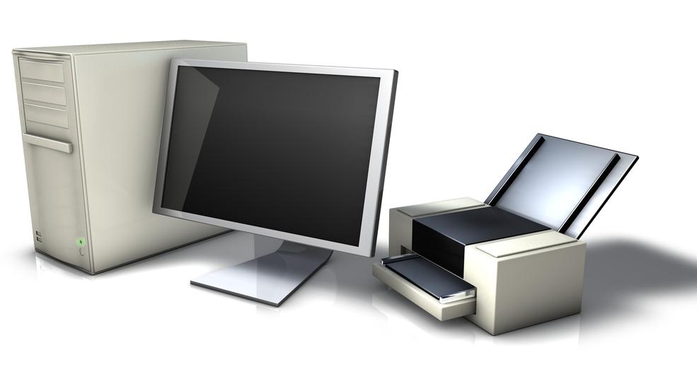 Рис. 2. Расположение устройства, имеющего кабельное соединение с компьютеров.