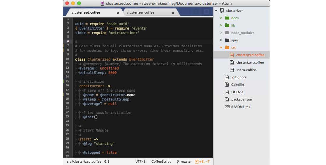 Рис. 4. Текстовый редактор TextMate с подсветкой кода